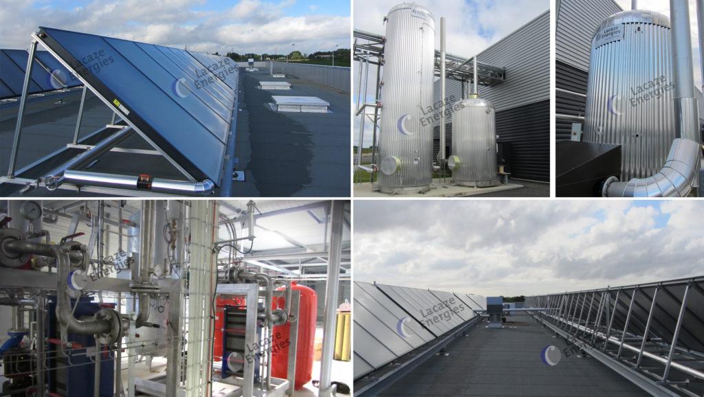 Installation solaire thermique - Usine agroalimentaire - Bretagne